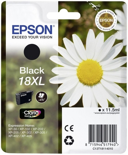 Epson 18XL, TPA schwarz, 470 Seiten, 11.5ml