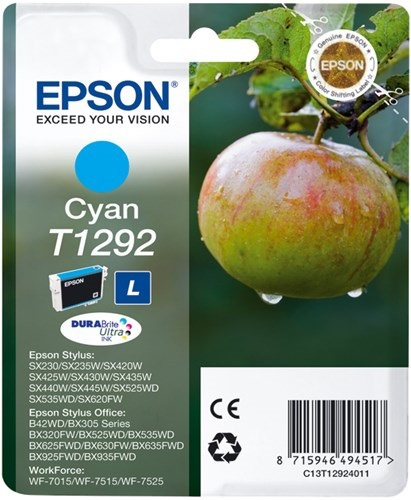 Epson T1292, Cartuccia d'inchiostro cyan, 7ml