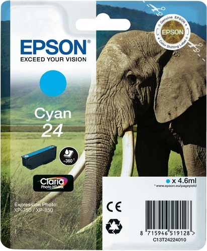 Epson 24, Cartuccia d'inchiostro cyan, 360 pagine