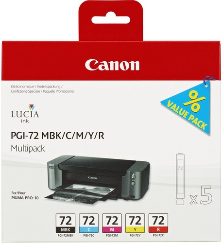 Canon PGI-72 Multipack, Cartouches d'encre MBK/C/M/Y/R