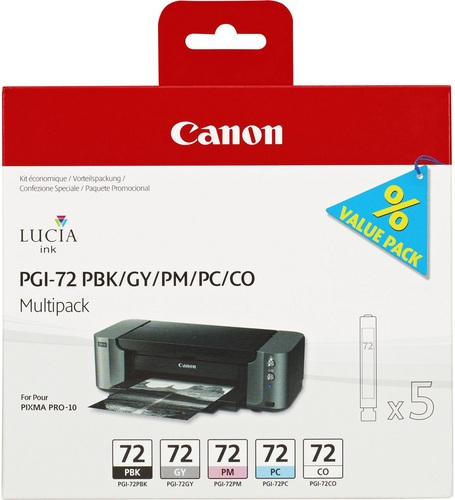 Canon PGI-72 Multipack, PBK/GY/PC/PM/CO