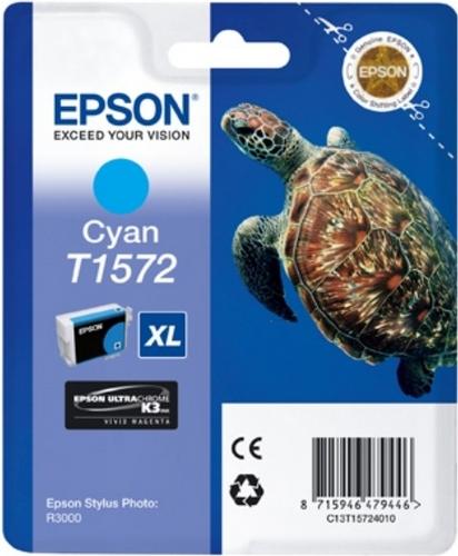 Epson T1572, Cartouche d'encre cyan, 25.9ml