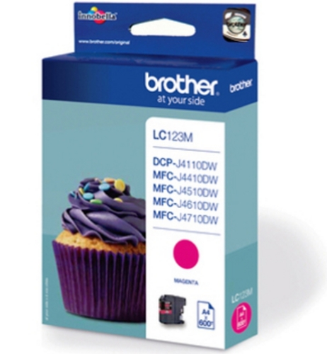 Brother LC123M, TPA magenta, 600s