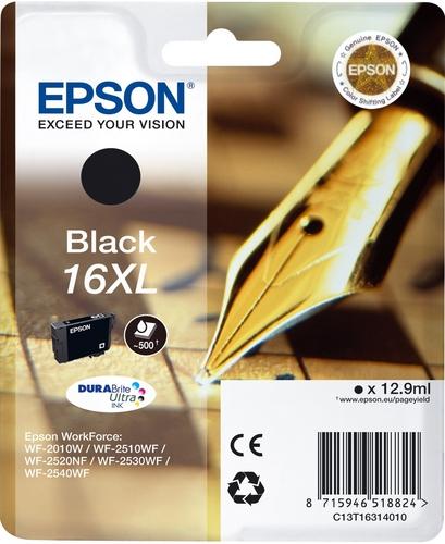 Epson 16XL, Cartuccia d'inchiostro nero, 12.9ml 500 pagine