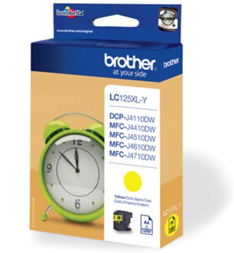 Brother LC125XLY, TPA yellow, 1'200s