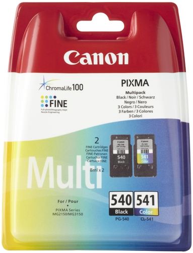 Canon PG-540 & CL-541 ComboPack TPA schwarz & farbig
