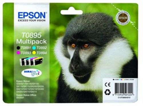 Epson T0895 Multipack, Cartucce d'inchiostro nero, cyan, magenta e giallo