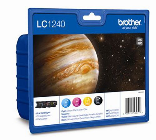Brother LC1240VALBP, TPA noir, magenta, jaune, cyan, Value Pack