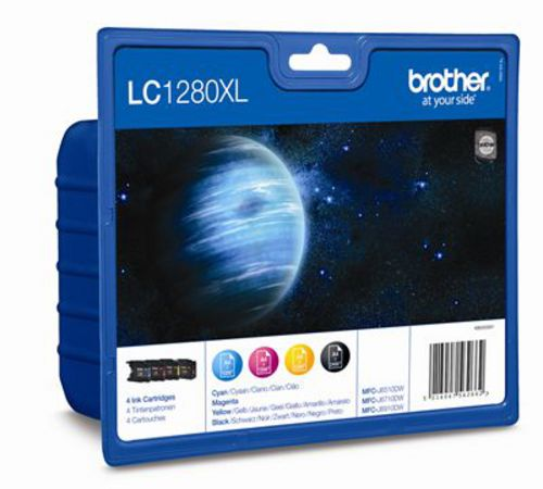 Brother LC1280XLVALBP, TPA black, magenta, yellow, cyan, Value Pack