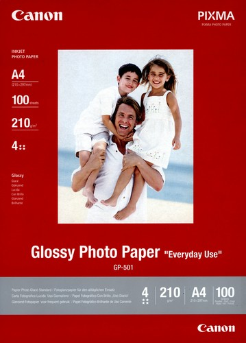 100 A4 Photo Paper GP-501 210g/m2, glossy