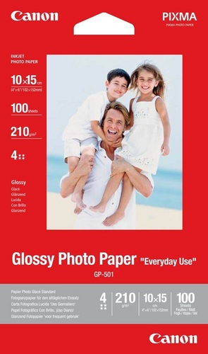 100 10x15 Photo Paper GP-501 210g/m2, glossy