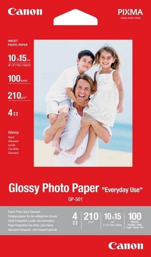 100 10x15 Photo Paper GP-501 210g/m2, glossy