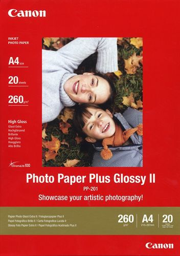 20 A4 Photo Paper Plus PP-201 260g/m2, glossy