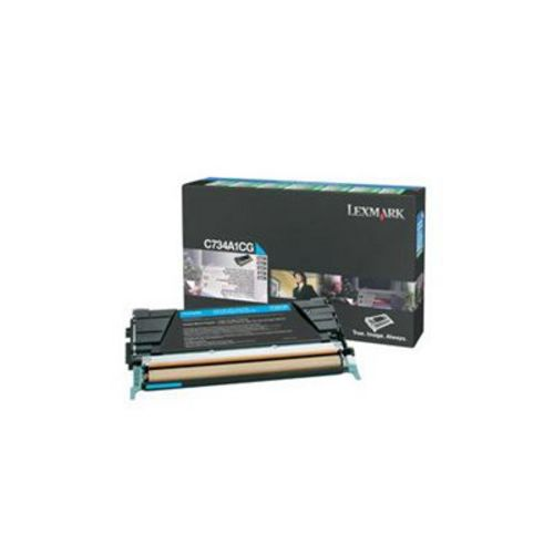 Lexmark C734, Toner cyan, 6'000 pages