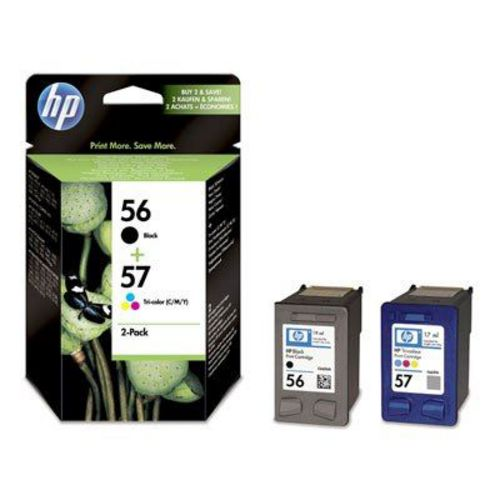 HP Nr. 56 + 57 Twin Pack, Cartucce d'inchiostro nero e color