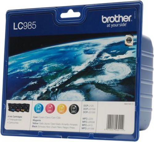 Brother LC985VALBP, TPA Value Pack schwarz, cyan, magenta & yellow