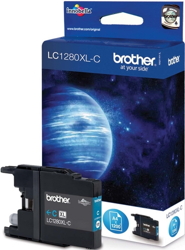 Brother LC1280XLC, Cartouche d'encre cyan, 1'200 pages