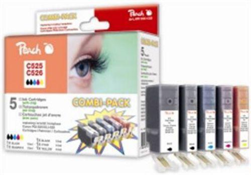 Peach Spar Pack Tintenpatronen, XL-Ergiebigkeit, kompatibel zu Canon CLI-526