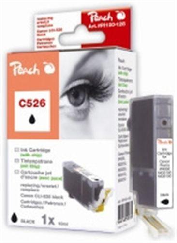 Peach Canon C526 photo noir, comp. avec Canon CLI-526bk avec puce