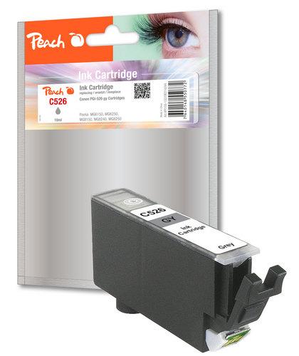 Peach XL-Tintenpatrone grau kompatibel zu Canon CLI-526, CLI-526 gy