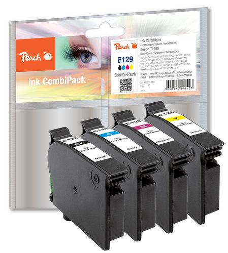 Peach Spar Pack Tintenpatronen kompatibel zu Epson T129, T1295