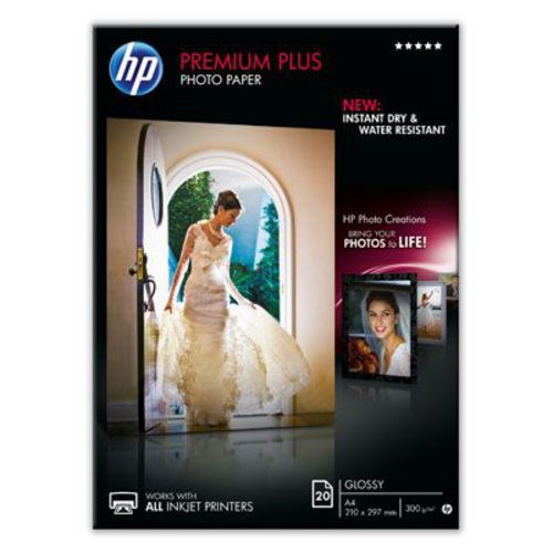 20 A4 Premium Plus Photo Paper 300g/m2, glossy