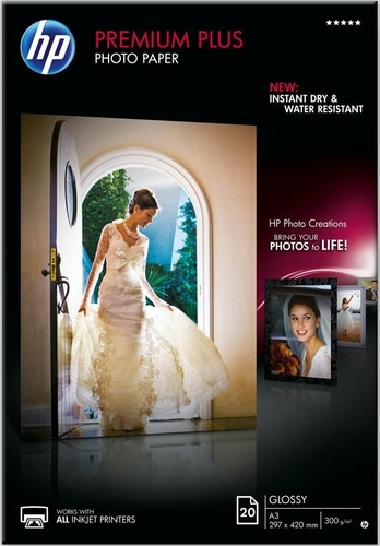 20 A3 Premium Plus Photo Paper 300g/m2, glossy