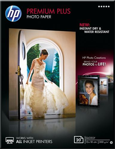 20 13x18 Premium Plus Photo Paper, 300g/m2, glossy
