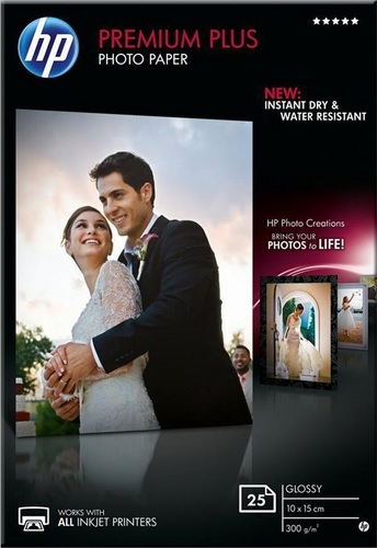 25 10x15 Premium Plus Photo Paper, 300g/m2, glossy