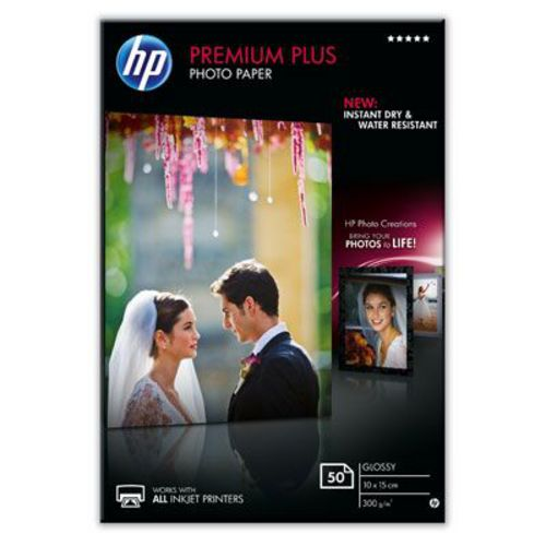 50 10x15 Premium Plus Photo Paper, 300g/m2, glossy