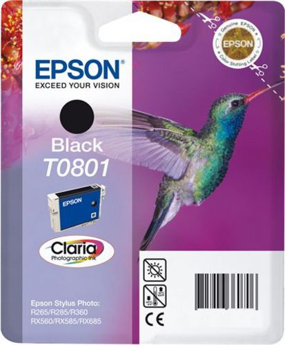 Epson T0801, Cartuccia d'inchiostro nero, 7.4ml
