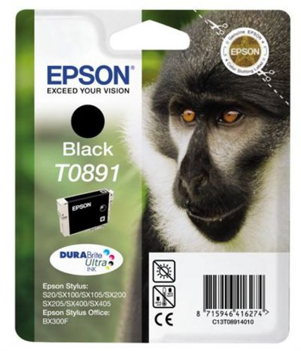 Epson T0891, Cartuccia d'inchiostro nero, 5.8ml