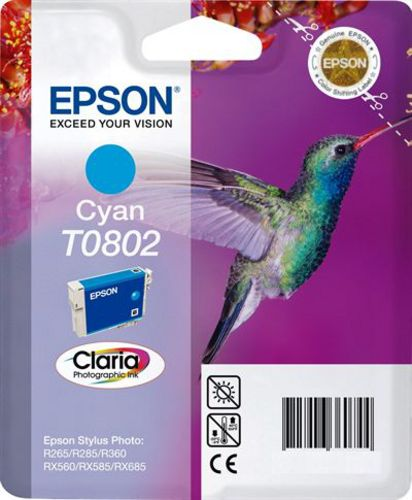 Epson T0802, Cartuccia d'inchiostro cyan, Claria Photographic Ink