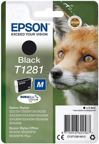 Epson T1281, Cartuccia d'inchiostro nero, 5.9ml