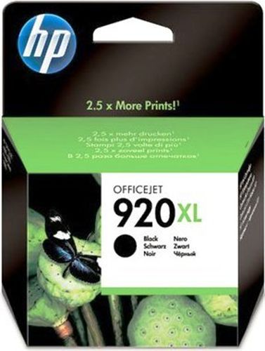 HP Nr. 920XL black, TPA schwarz, 1200s, CD975AE
