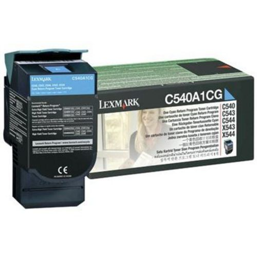 Lexmark C540, Toner cyan, 1'000 pages