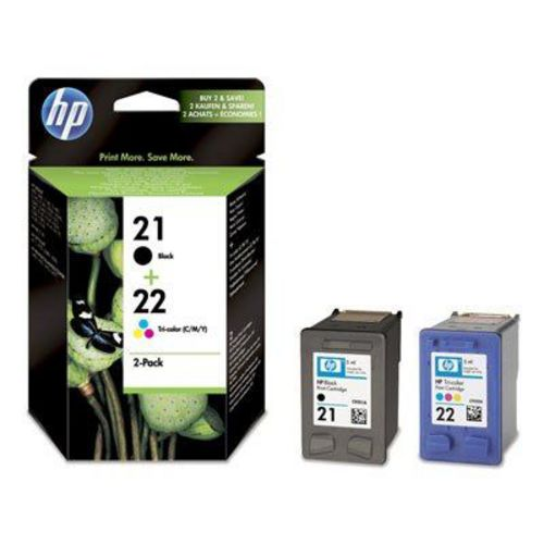 HP Nr. 21 + 22 Twin Pack, Cartuccia d'inchiostro nero e coloré