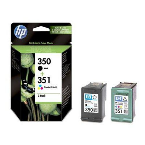 HP Nr. 350 + 351 Twin Pack, Cartuccia d'inchiostro nero e coloré