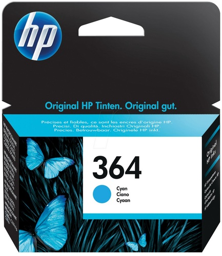 HP Nr. 364, Cartouche d'encre cyan, 300 pages