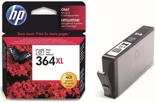 HP Nr. 364XL, TPA Foto schwarz, CB322EE