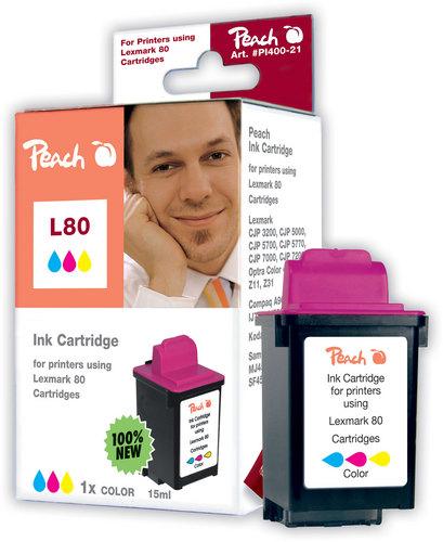 L80 pour Lexmark No. 80 coloré Cartouche d'encre compatible
