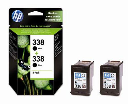 HP Nr. 338, TPA schwarz 2-er Pack, Vivera Tinte, CB331EE