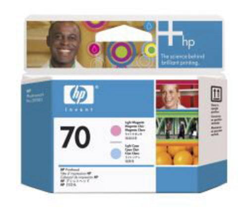 HP No. 70, Cartouche Tête de pression, C9405A, magenta claro,cyan claro