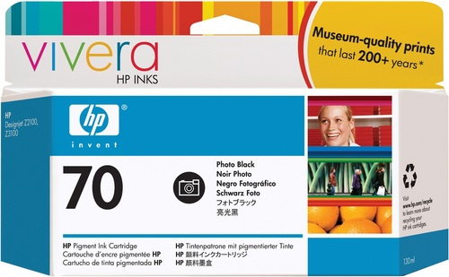 HP Nr. 70, TPA schwarz Foto, Vivera Tinte, C9449A