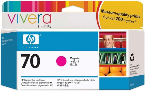 HP No. 70, Cartouche d'encre magenta, Vivera d'encre, C9453A