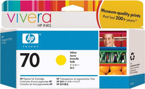 HP Nr. 70, TPA yellow, Vivera Tinte, C9454A