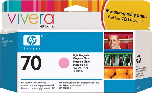 HP No. 70, Cartouche d'encre magenta clair, Vivera d'encre, C9455A