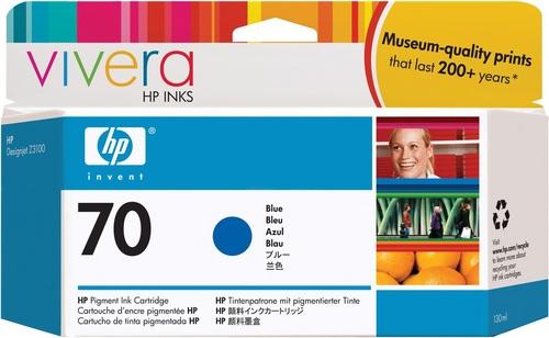 HP No. 70, Cartouche d'encre bleu, Vivera d'encre, C9458A