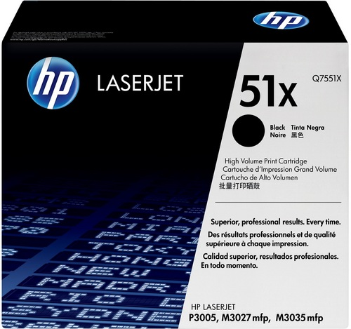 HP Q7551X, Toner noir, 13'000 pages