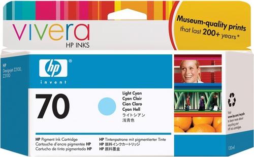 HP No. 70, Cartouche d'encre cyan clair, Vivera d'encre, C9390A